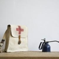 Loft design Vintage canvas bag messenger man Red Cross Umhängetasche roter Kreuz Leinwand Mann Tasche Retro vöröskereszt vászon férfi válltáska