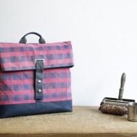 Loft design kockás hátizsák checked backpack Plaid Rucksack újrahasznosított recycled