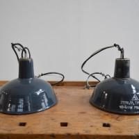 Loft design régi ipari üzemi zománcozott mennyezeti lámpa Old industrial lamp Industrielampe zománc mennyezeti lámpa Emaille Deckenleuchte enamel ceiling lamp artkraft