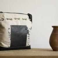 Loft design bag Válltáska eredeti pénzeszsákból Shoulder bag original money sack Schultertasche Original Geldbeutel