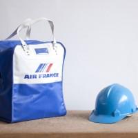 Loft design bag vintage retro kézitáska repülőtársaság eredeti original air france original airline bag Fluggesellschaft Tasche