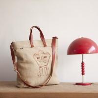 Loft design Tote recycled leather sack Leder wiederverwenden Tasche Újrahasznosított zsák bevásárló táska