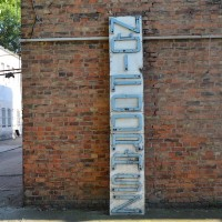 Loft design Régi cégfelirat Ehemalige Ladenbeschriftung Former store label
